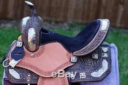 13 Western ShowithBarrel Racing Saddle-Genuine Leather