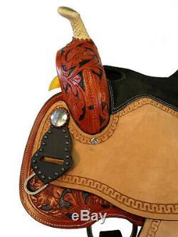15 16 Barrel Racing Show Western Saddle Pleasure Trail Cross Gemstone Tack Set
