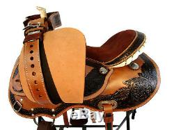 15 16 Barrel Show Trail Pleasure Oak Leather Gaited Western Horse Saddle Tack