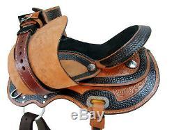 15 16 Gaited Western Saddle Horse Trail Amazingly Tooled Leather Pleasure Tack