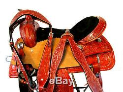 15 16 Trail Saddle Hand Tooled Sillas Para Caballos Western Horse Pleasure Tack