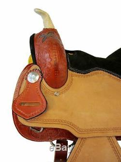 15 16 Used Western Saddle Barrel Racing Pleasure Rodeo Trail Show Horse Tack Set