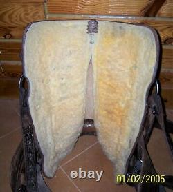 15.5 16 Master Saddles Western Roping Pleasure Trail Saddle fully rigged to ride