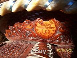 15.5 High Quality used western 2014 trophy ranch roping pleasure trail saddle