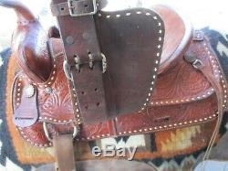 15'' Big Horn #7 Buck Stitched Western Trail Saddle Fqhb