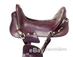 15 Inch McClellan Replica Cavalry Saddle Dark Oil Leather