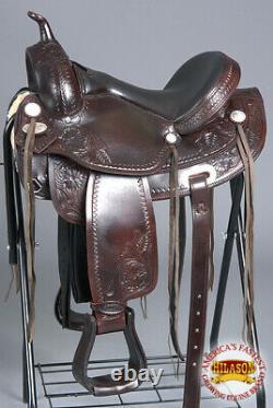 15 Western Horse Saddle American Leather Treeless Trail Pleasure Hilason O111 U