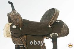 15 Western Horse Saddle Flex Tree American Leather Trail Barrel Hilason U-Z-15