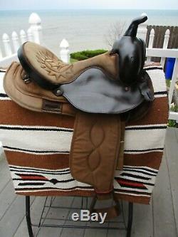 15'' big horn #102 Brown western Barrel Trail saddle Cordura & Leather QHB