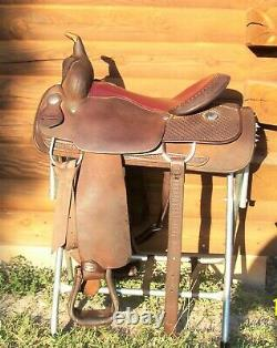 16.5 Used Billy Cook Western Pleasure Trail Reining Saddle Made Greenville Texas
