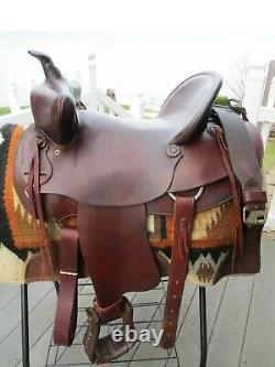 16'' #722 American Saddlery Bear Trap Rancher Western Saddle Hi Cantle Qh Bars