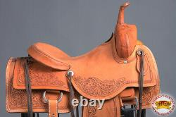 16 In Western Horse Ranch Roping Saddle Trail American Leather Hilason U-Z-16