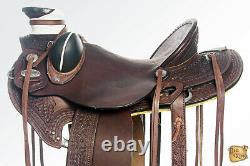 16 In Western Horse Saddle Leather Wade Ranch Roping Dark Brown Hilason U-B-16