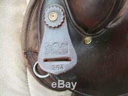 16'' brown big horn #264 western round Barrel trail saddle Cordura & Leather QHB