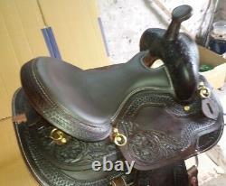 16'' western dark brown color pleasure style saddle