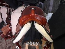 16'' western saddle barrel racing Style Saddle with rough out fender & jockey