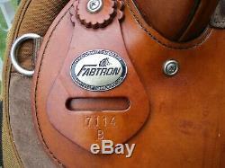 17'' brown Fabtron 7114 B western trail saddle Cordura & Leather FQHB