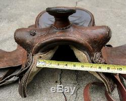 2 pcs Vintage Western Horse Saddles Red Ranger Saddlery Size 15