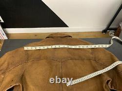 $2400 RRL Ralph Lauren Medium Griggs Leather Jacket Distressed Polo Western VTG