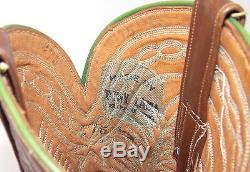 50's Tony Lama Cowboy Boots Women's Sz 7.5B Excellent Vtg Brown Shorty Pee Wee