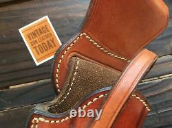 Alfonso's Brown Leather Suede Lined Western Holster for 6 L Frame 686 Revolver