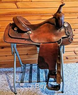 Big Horn 16.5 Western Trail Saddle Model 918 all Leather, Used, Very Comfy