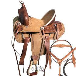 C-8-12 12 Kids Youth Children Miniature Pony Saddle Leather Trail Western Tack