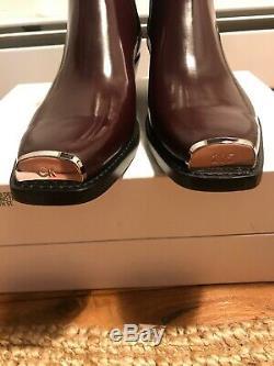 Calvin Klein 205W39NYC Western Metal Tip Chelsea Boots Raf Simons Brown Sz 13 46