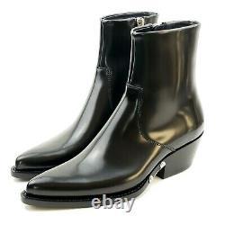 Calvin Klein 205W39NYC x Raf Simons Tiesa Black Leather Bootie Womens 6
