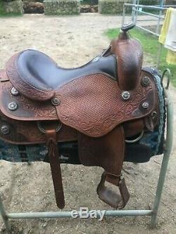 Champion Western Saddle 16 seat and full quarter horse tree