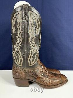 Chisholm African BullFrog Cowboy Boots Brown size 8 D