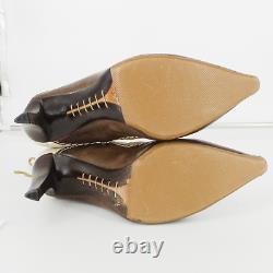 Christian Dior Western Heel Booties Size 37.5