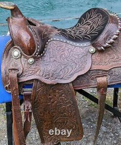 Circle Y Brand Equitation/Pleasure Western Saddle Sweethome TX 15 seat