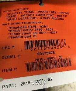 Circle Y Gillette Trail 16 Wide Tree Walnut Western Saddle NEW 2615-8601-05