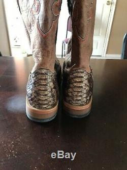 Cody James Mens SZ 13 D NATURAL GIANT PYTHON Exotic WESTERN Boot Square Toe BB42