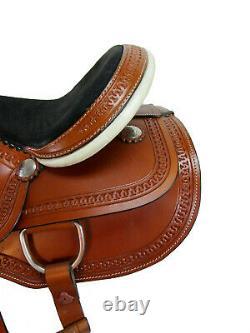 Comfy Trail Western Horse Saddle 15 16 17 18 Pleasure Tooled Leather Tack Set