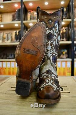Corral Ladies Mint Maple Flower Overlay and Studs Cowgirl Boots C3176 SALE