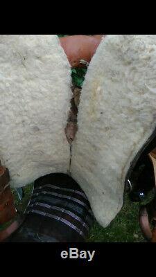Custom Made 16 Saddle leather western roping trail saddle