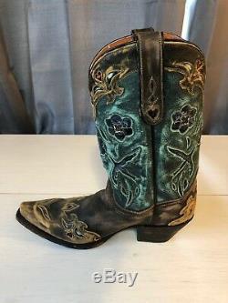 Dan Post'bluebird' Snip Toe Western Cowboy Boots Women's 8-1/2 M -style 3544