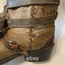 Double D Ranch Frontier Trapper Lane Western Leather Stuffed Cowgirl Boots 9.5