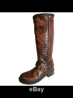 FREEBIRD BY STEVEN SHADO Western Distressed BOOTS COGNAC BNIB MSRP $325