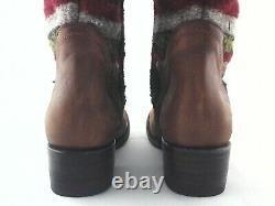 FREEBIRD Steven Cabal Western Tall Boots Wool Blanket Brown US 7 EU 37.5 $395