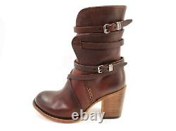FREEBIRD by Steven Womens Baker Cognac Brown Leather Boots with Box US Sz 8