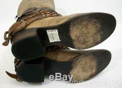 Fast Ship! Euc Sz 7 Freebird By Steven Knox Stone Boho Boots Belts Chains