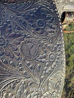 Flashy Used/vintage Circle Y 15 buckstitched Western trail /pleasure saddle VGC