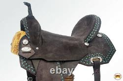 Flex Tree Western Horse Saddle In American Leather Barrel Trail U-33BZ