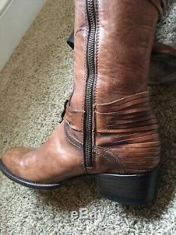 Freebird By Steven Stela Knee-high Harness Boot Cognac Sz 9rare