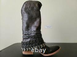 Freebird by Steven Dante Fashion Vintage Distressed Leather High Boot Brown Sz 8
