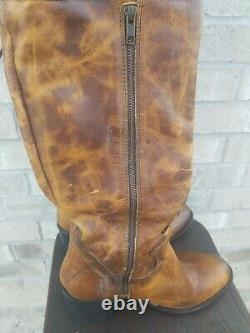 Freebird by Steven Rolls Taupe Leather Distressed Over the Knee Tall Boot Sz 10
