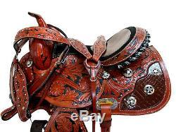 Gaited Western Saddle 16 15 Pleasure Show Horse Trail Tooled Leather Tack Set